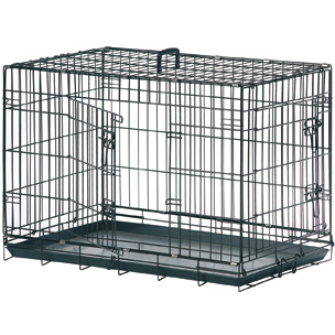 Jaula Plegable Para Perro NP Plastificada En Negro
