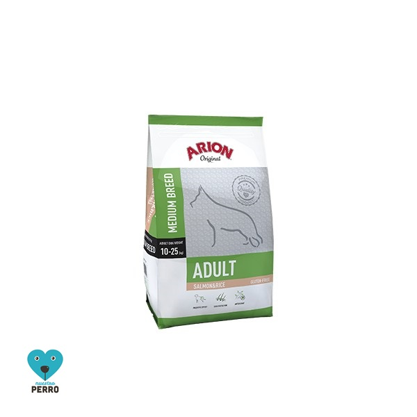 Arion Original Adulto Razas Medinas Salmon Y Arroz 12 Kg