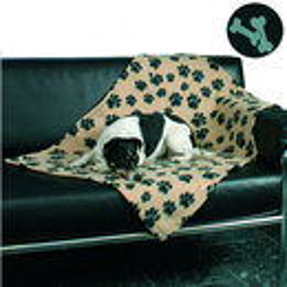 Manta Cubre Sofa Trixie Beany Beige/Negro 100x70 Cm