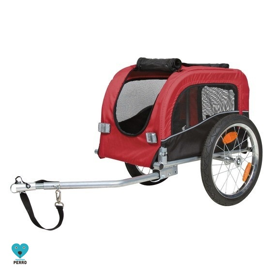 Carrito Para Bicicleta Trixie Para Perros De Hasta 30 Kg