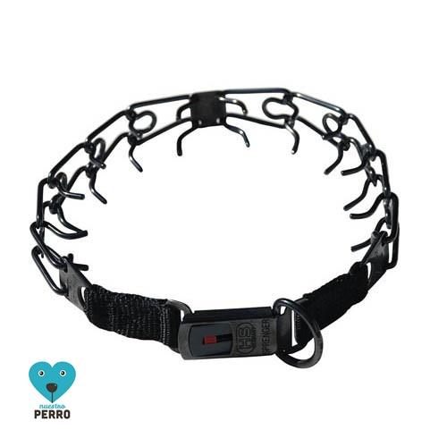 Collar Adiestramiento Hs Sprenger Acero Inox. Cierre Clicloc Negro 2,2 Mm