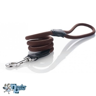 Correa Hunter Nylon Redondo Marrón Chocolate Para Perros