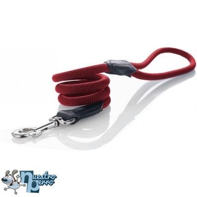 Correa Hunter Nylon Redondo Rojo Para Perros Fuertes