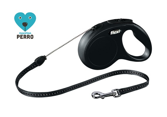 Flexi New Bassic Cordon Negra, Disponible En Cuatro Tamaños