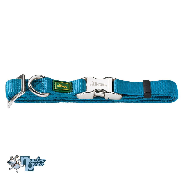 Collar Para Perro Hunter De Nylon Con Hebilla Metálica Azul Petroleo