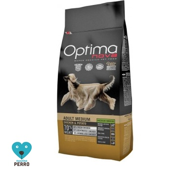 Optima Nova 12 Kg Adult Medium Pollo Y Patata Sin Cereales