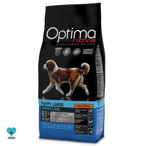 Optimanova Large Puppy Con Pollo Y Arroz 12 Kg